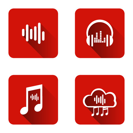 Set of icons for music streaming service. music streaming.