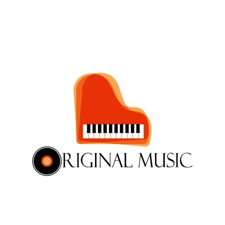 Music style logo icon templates. Music logo, music icon. Brand logo. Melody, music, decor, disc logo. Music Studio design. Music stores logo. Musical groups icon. Sound logotype. Piano logo icon