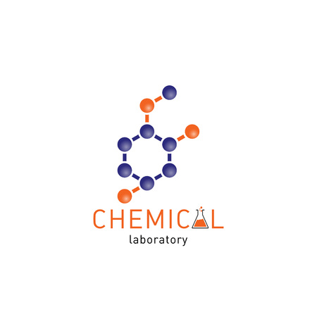 chemical laboratory: Chemical laboratory icon on a white background