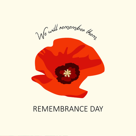remembrance day poppy: Vector background Remembrance Day poppy card. Lest we forget lettering