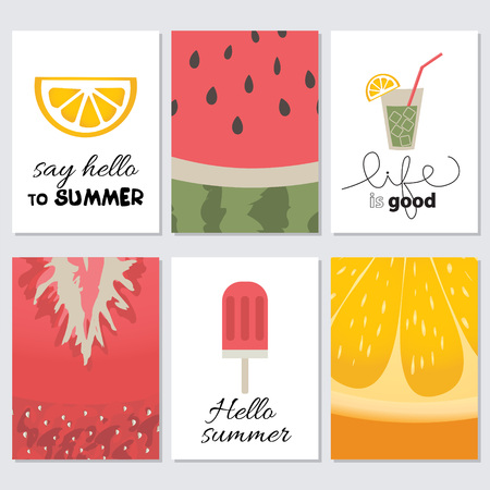 Hello summer. Collection cards