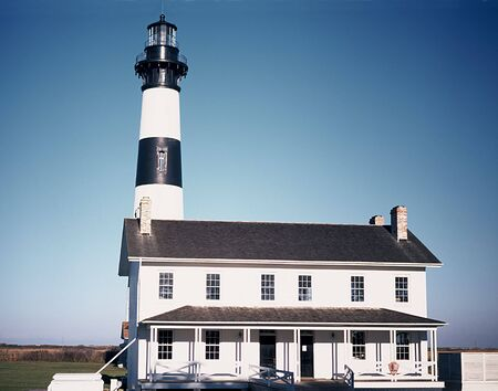 lighthouse at buuxon on the outer banks