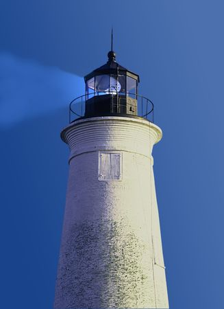 lighthouse at st marks state park florida with beacon