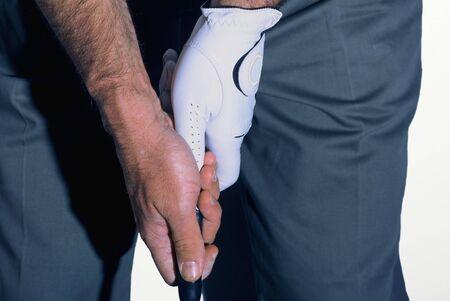 A pro golfer gripping a club Stock Photo - 429949
