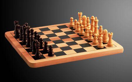A chess set ready to play Standard-Bild