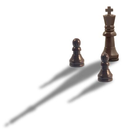 A black king chess man with 2 pawns