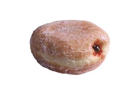 Isolated donut on a white back round