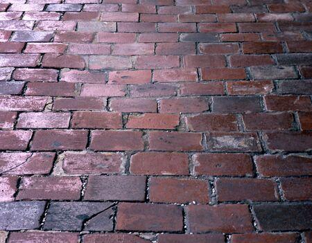 cobble: close-up di Cobble pietra a piedi