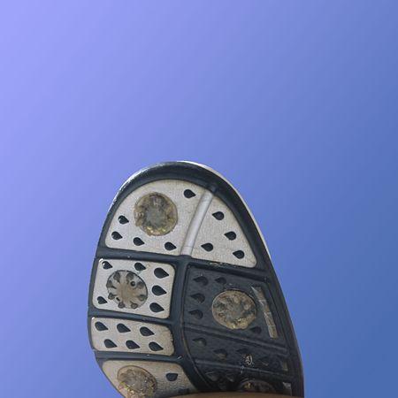 bottom of a golf shoe