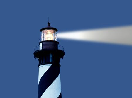 augustine: lighthouse at St Augustine with digity generateed blight beam Stock Photo