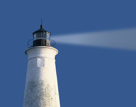 lighthouse at st marks state park fl with digity generateed blight beam Standard-Bild