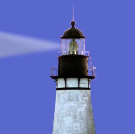 lighthouse at Amelia Island FL with beam