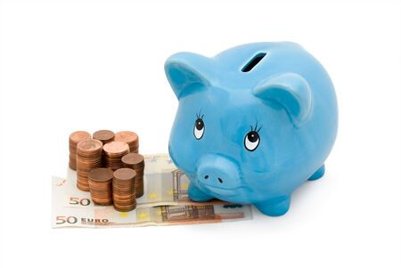 Piggy Bank with white background photo