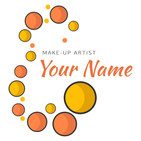 makeup artist: Eyeshadows in form of curved line. Abstract design concept for beauty salon, makeup artist, cosmetic. Vector logo design template. Illustration