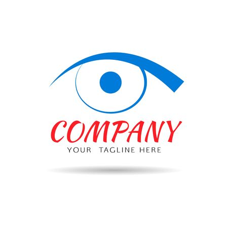 see a doctor: Eye vision vector logo design template. Abstract design concept for optics, cosmetics, health care.