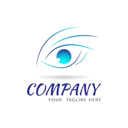 optics: Eye vision vector logo design template. Abstract design concept for optics, cosmetics, health care.