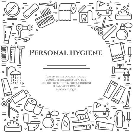 Personal hygiene line banner.