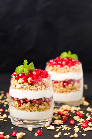 Pomegranate parfait Stock fotó