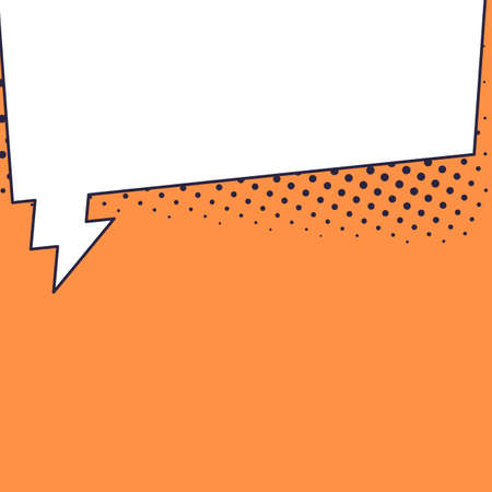Speech bubble banner with space for phrases.
