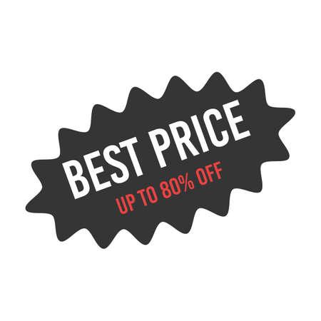 Sale starburst sticker for black friday promotion. 向量圖像