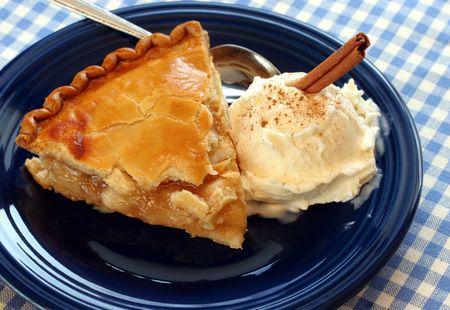 Delicious apple pie ala mode with cinnamon Stok Fotoğraf