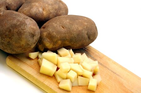 cubed: Whole and Cut Potatoes