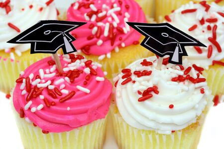 Graduation Cupcakes with Hats photo