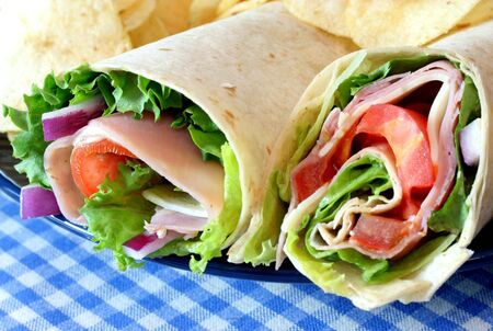 Ham Sandwich Rollups Stock Photo - 3172780