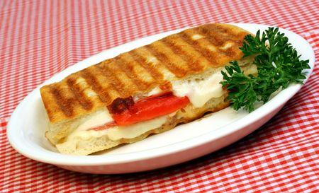 browned: Panini Flat Bread Sandwich
