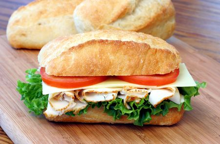 Turkey Sub Sandwich Stock Photo - 3208130