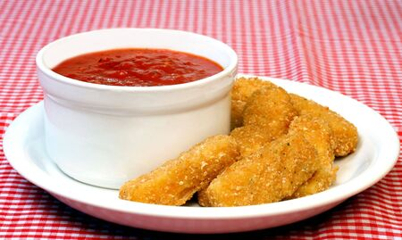 Mozzarella Sticks and Sauce