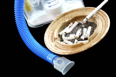 Cigarettes and Breathing Machine