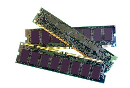 Computer SDRAM Memory Modules Isolated on White