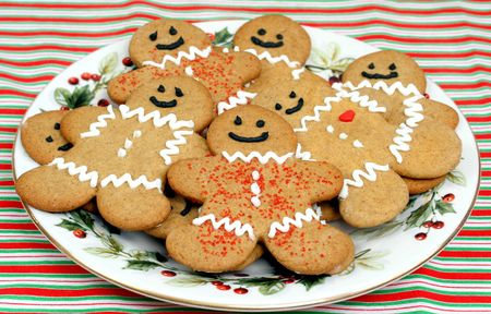 Gingerbread cookies on a plate photo