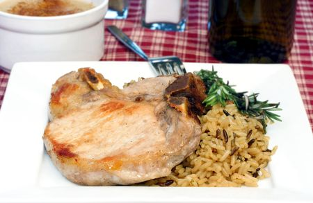 Center Cut Pork Chop and Wild Rice