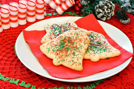 Christmas Sugar Cookies and Ribbon Candy photo
