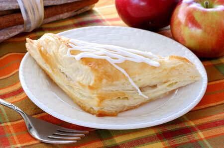 turnover: One frosted apple turnover with fresh apples