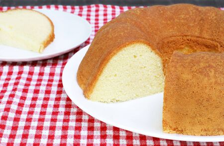 Plain Bundt Pound Cake ready for your topping. Stock fotó - 6310905