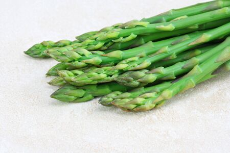 Fresh and healthy organic asparagus on a counter with copy space. Stock Photo - 6525440