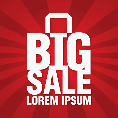 big sale with shopping bag background