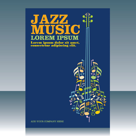 Jazzmuziek Stock Illustratie