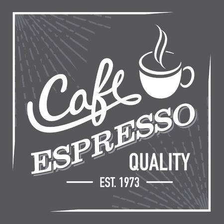 established: Quality Espresso Label Sign