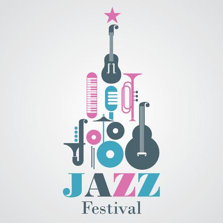 Jazz Festival poster Banco de Imagens - 31591556