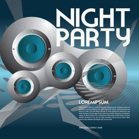 event party festive: party flyer Illustration
