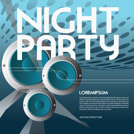 night party flyer Vector