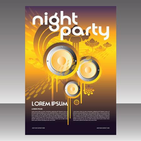 clubbing flyer Ilustrace