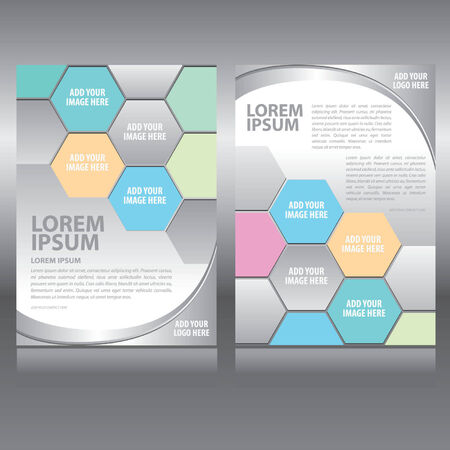 magazine template: Vector business brochure, flyer, magazine cover & poster template Illustration