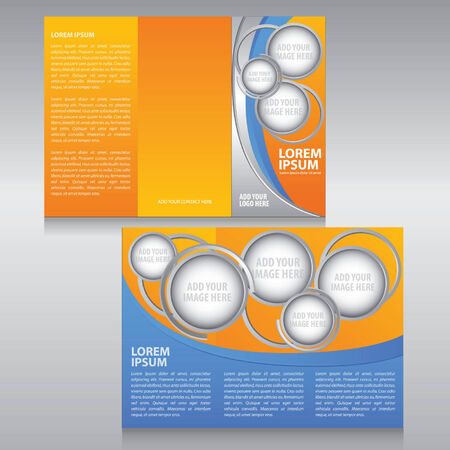 Vector business brochure, flyer, template