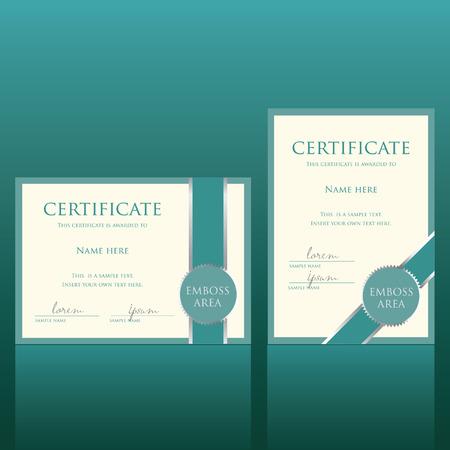 certificate vector template Vector