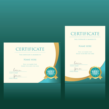 design layout: certificate vector template